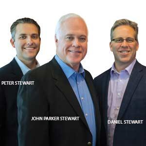Peter Stewart, Managing Partner, John Parker Stewart, Founder & CEO and Daniel Stewart, President, Stewart Leadership
